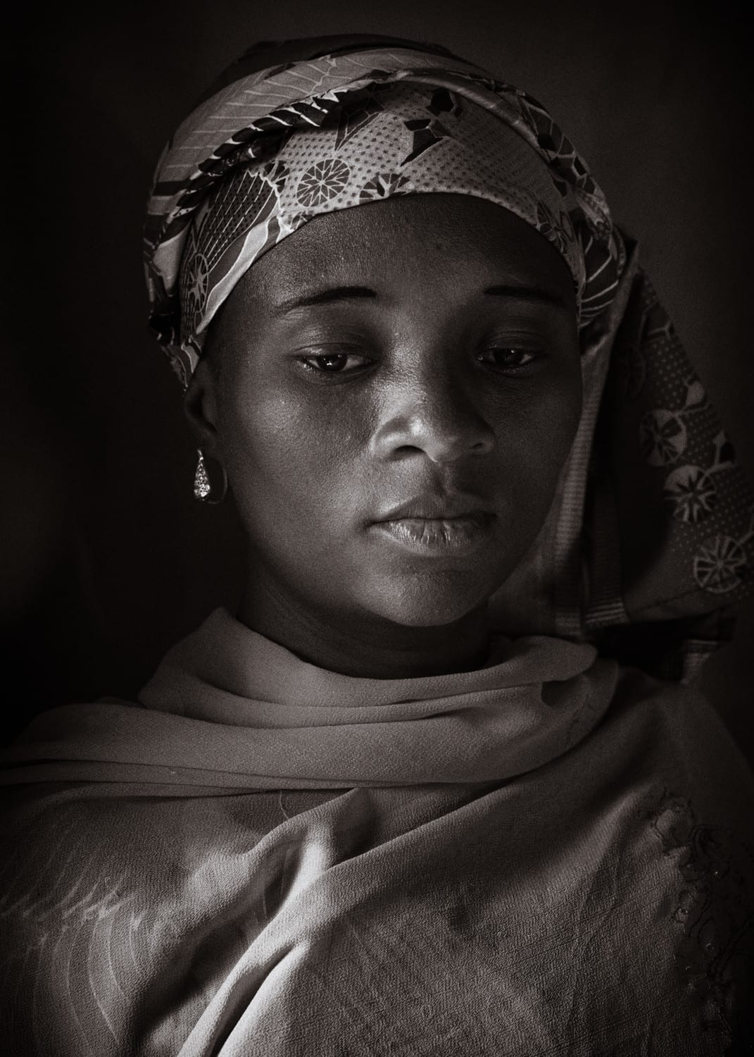 From today, a natural light portrait of a bride from the town of Lapai in Niger state.