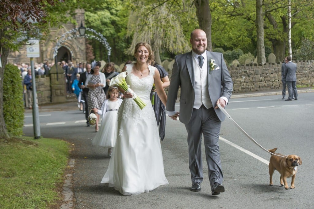 Leading guests to the reception on foot