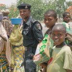 Nigerian policeman in the community