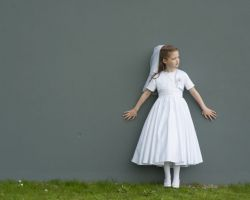 Modern outdoor communion portrait