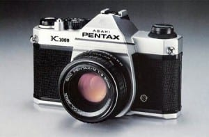Pentax K1000 My first 'serious' camera bought in 1984.
